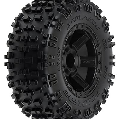 "Proline 117312 Badlands 2.8"" All Terrain Tire Mounted on Desperado Black Wheels"