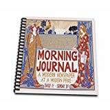 3dRose db_149509_1 Vintage Morning Journal a Modern Newspaper Advertising Poster Drawing Book, 8 by 8-Inch
