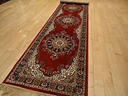 Silk Red Persian Area Rug Traditional Area Rugs 2x8 Hallway Runner Living Room Rug Shiny Silk 2x7 Narrow Redish Rug Runner Rugs