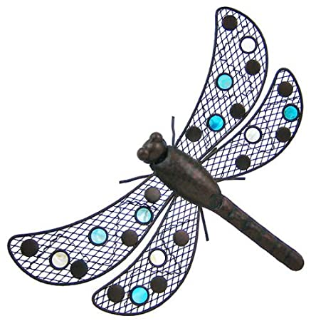 Metal Dragonfly Wall Hanging Decor