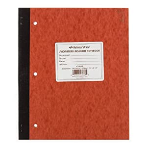 National Brand Laboratory Notebook, 4 X 4 Quad, Brown, Carbonless, 11 x 9.25 Inches, 100 Sets (43649) images