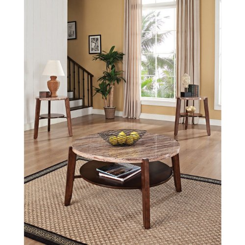 Cheap Nadav Faux Marble Top Table – Set of 3 (B008OM25DQ)