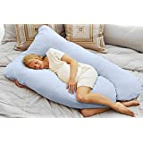 Today's Mom Cozy Comfort Pregnancy Pillow, Sky Blue