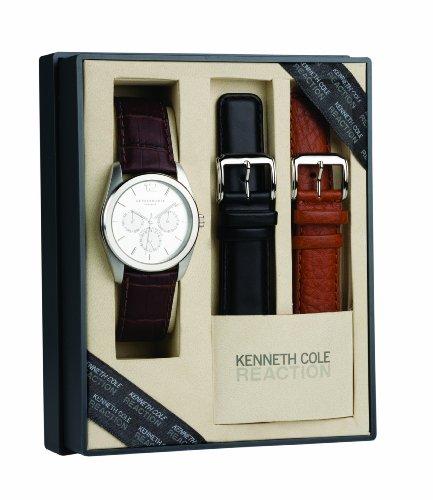 Kenneth Cole KC5131-Orologio da uomo al quarzo in acciaio INOX, colore: multicolore