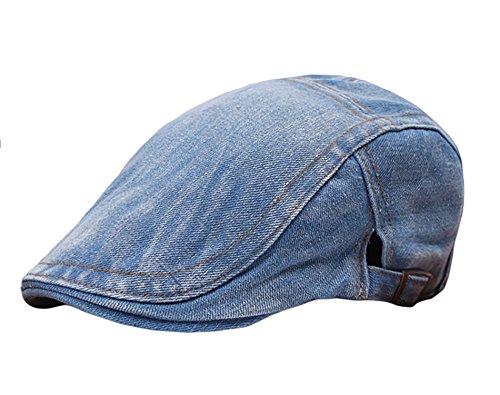 IL Caldo Adult Peaked Newsboy Cap Beret Sun Hat,Light blue (Mens Peaked Hats compare prices)