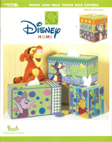 Disney Home Leisure Arts Craft Book Pooh And Pals Tissue Box Covers front-1012099