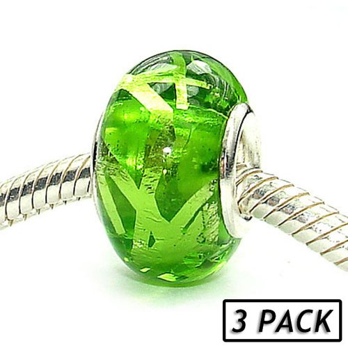 Pacific Beads Silver Plated Glass Beads (3 Pack) - Weekend Vacation