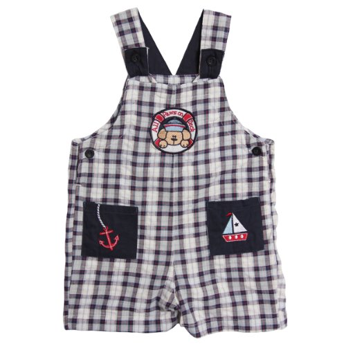 BT Kids Newborn Baby Boys 1 Piece Blue Red Plaid