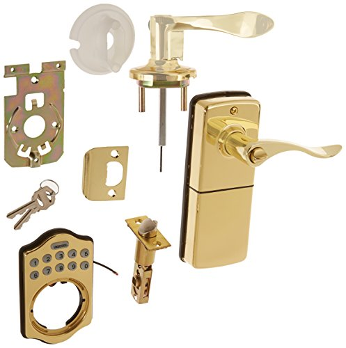 LockState LS-L500i-PB Connect Wi-Fi Internet Controlled Remote Access Electronic Keypad Smart Door Lock with Lever Handle, Polished Brass (Wifi Door Handle compare prices)