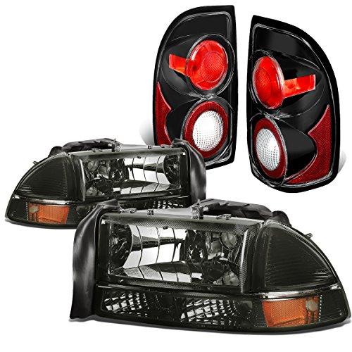 dodge-dakota-durango-4pcs-pair-of-smoked-lens-amber-corner-headlights-black-altezza-style-tail-light