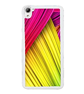 Colourful Layers Pattern 2D Hard Polycarbonate Designer Back Case Cover for HTC Desire 826 Dual Sim