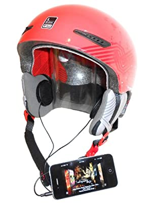 KOKKIA H10 (BLACK cables) Sports/motorcycle helmet earphones (stereo), great bass and loud - can attach to iPods/iPhones/iPads/MP3/CD/Bluetooth receiver devices with 3.5mm audio jack. For normal as well as daredevil, extreme sports, skiers, snowboarders,