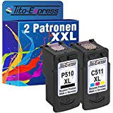Set 2 Druckerpatronen für Canon PG-510XL & CL-511XL IP2700 MP230 MP240 MP250 MP260 MP270 MP280 PlatinumSerie