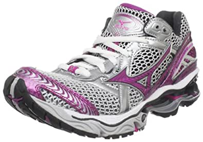 Mizuno Women's Wave Creation 12 Running Shoe,White/Electric Pink-Wild Aster,6 M US