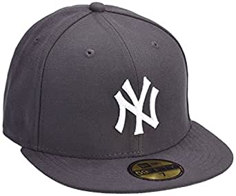 New Era - MLB Basic NY Yankees 59Fifty Fitted - Chapeau Homme, gris, 6 7/8inch - 55cm