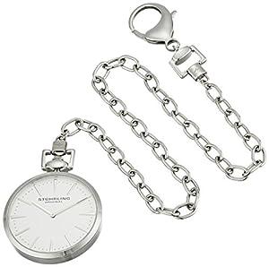 Stuhrling Original 815.01 Montres de Poche Pedigree Swiss Quartz Stainless Steel Pocket Watch