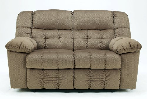 Contemporary Toffee Brown Lowell Reclining Loveseat