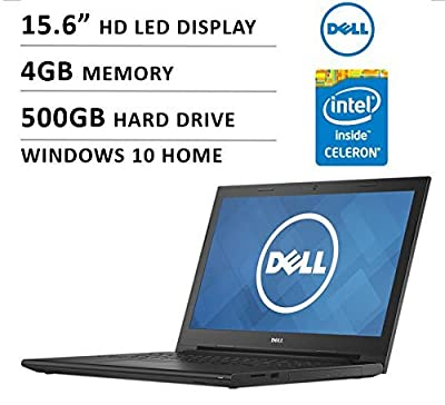 "2016 Newest Dell Inspiron 15 15.6"" Premium High Performance Laptop PC, Intel Celeron Dual-Core Processor, 4GB RAM, 500GB HDD, DVD +/- RW, HD LED-backlit Display, WiFi, HDMI, Bluetooth, Windows 10"