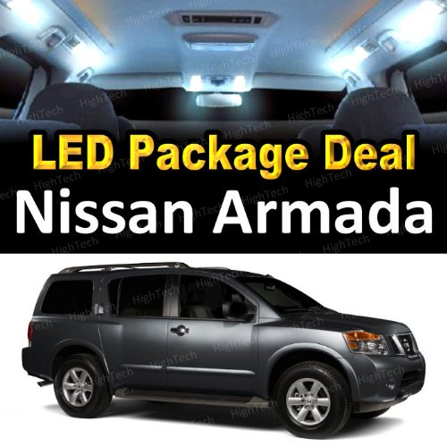 Led Interior Package Deal For 2005 Nissan Armada (13 Pieces), White