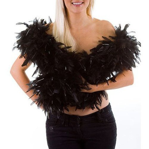 Cheapest Prices! SODIAL(TM) Feather boa - black - great for hen and stag nights