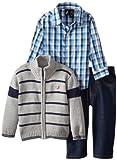 Nautica Baby-Boys Infant Zip Up Sweater Set
