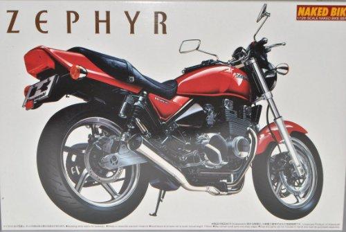 Kawasaki Zephyr ZR400C4 Rot 041659 Kit Bausatz 1/12 Aoshima Modell Motorrad mit individiuellem Wunschkennzeichen