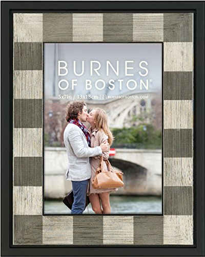Burnes of Boston 513857 Squares Picture Frame, Black, 5 by 7 Inches