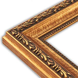 Scrolled Gold Picture Frame-Solid Wood, 8x10