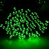 1Pc Extreme Popular 200x LED Solar Power Nightlight Xmas Props Outdoor Lamp Christmas Light Colors Green