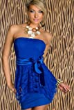 CLUBBING DRESS WITH A MATCHING THONG IN BLUE DESIGN ONE SIZE FITS 8-12 SUPPLIED BY EROTICA-WEAR-UK