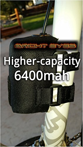 Bright Eyes The BEST Bike Light Battery - NOW HIGHER CAPACITY - Works With CREE T6 LED 1200lm Bike Lights - 8.4v (6400mAh Battery Only) (Bicycle Battery compare prices)