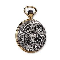 JD Manoir Two-tone White Dial Quartz Wildlife Pocket Watch