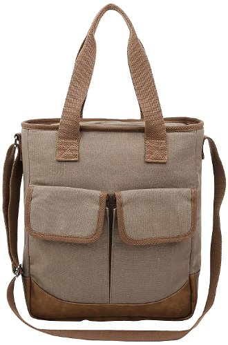 Sachi Canvas Cross-Body Tote, Style 23-265, Olive - 1