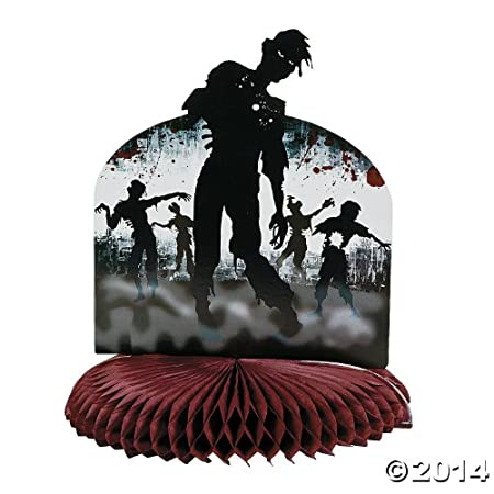 """Zombie Party Centerpiece. Paper. 11 1/4"""" x 10"""" diam. Simple assembly required."""
