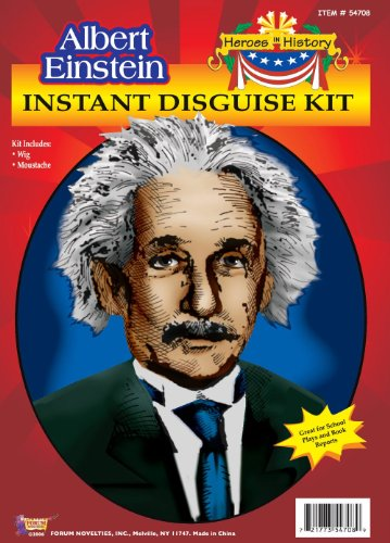 Albert Einstein Wig & Mustache Kit School Project Kit Unisex-Child 54708