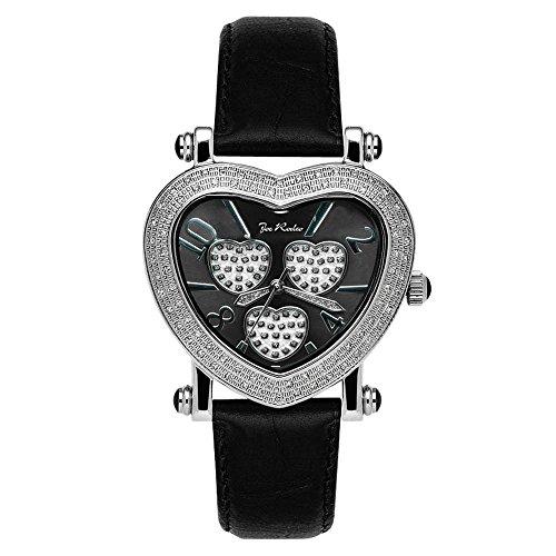 Joe Rodeo crotalo reloj de pulsera para mujer - móvil con forma de corazón de plata 0.75 estación