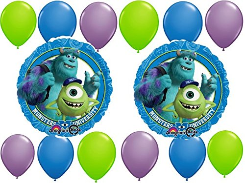 Monster University Party Balloons Kit - 14 pc - 1