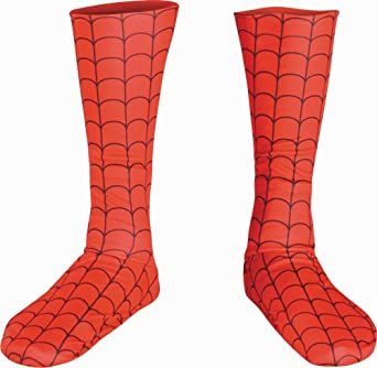 Disguise Men's Marvel Spider-Man Adult Boot Covers, Red/Black, One Size