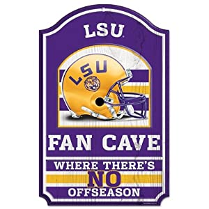 Buy LSU Tigers Official NCAA 17x11 Wood Sign by Wincraft by WinCraft