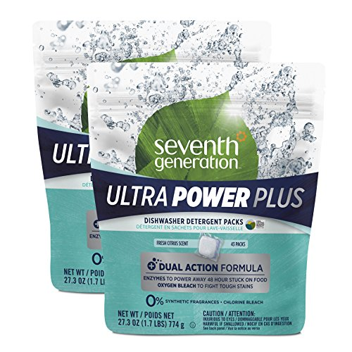 Seventh Generation Dishwasher Detergent Packs, Ultra Power Plus, 86 Count (Seventh Dishwasher Detergent compare prices)