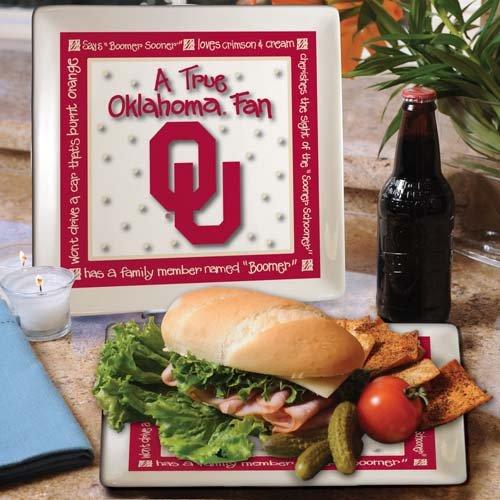 Ncaa Oklahoma Sooners True Fan Ceramic Square Plate