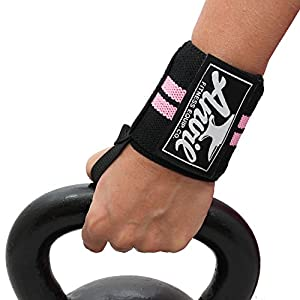 Women's Wrist Wraps by Anvil Fitness™ Wrist Support Wraps for Crossfit, Bodybuilding, Fitness, Exercise and Weightlifting