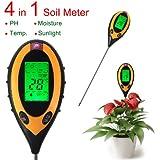 New Oxford Street 4-in 1 Professional LCD Temperature Moisture Sunlight PH Garden Soil Tester Detector