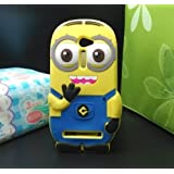 PES Cute Cartoon Minion Despicable Me Minion Best Back Case Cover For Asus Zenfone 2 Laser 5.0 - Yellow & Blue