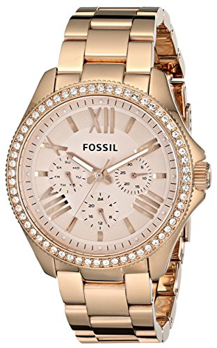 Fossil Women's AM4483 Cecile Multifunction Rose Tone Stainle