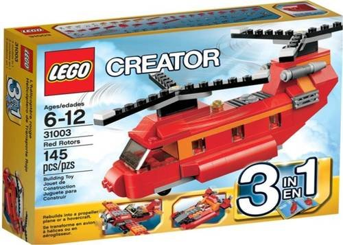 Lego Creator 31003 Red Rotors Plane Hovercraft 3In1 Set 145Pcs From Thailand front-865260