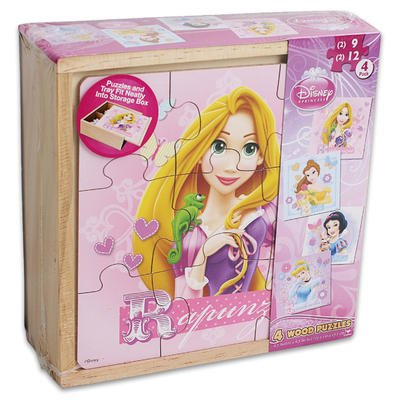 4in1 Wooden Princess Disney