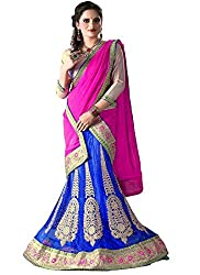 Khushi Trendz Women's Net Semi-Stitched Lehenga Choli Set_KT9184_Multicolored_Freesize