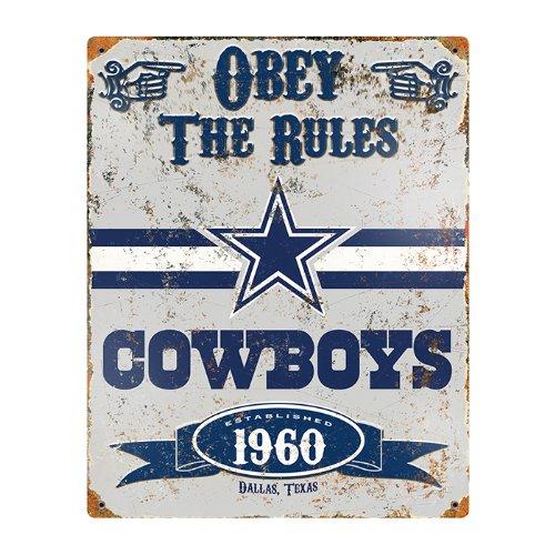 Party Animal NFL Embossed Metal Vintage Dallas Cowboys Sign (Vintage Cowboy Decor compare prices)