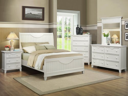 Alyssa 5 Pc Queen Bedroom Set With Chest By Home Elegance In White front-726461